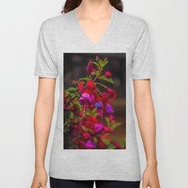 Fuchsia Dreams Unisex V-Neck