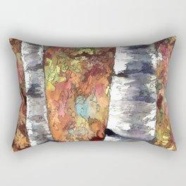 Aspen Trees Panorama Rectangular Pillow