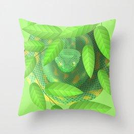 Bush viper Throw Pillow
