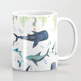 floral shark pattern Coffee Mug