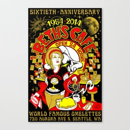Beth's Cafe 60th Anniversary Canvas Print