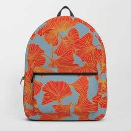 Tumbling Ginkgo Red Backpack