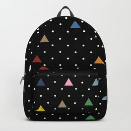 Pin Point Triangles Black Backpack