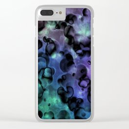 Inside Out Coral Abstract Clear iPhone Case