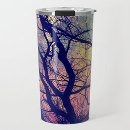 Black Trees Deep Pastels Space Travel Mug