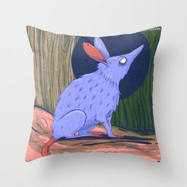 The bilby a rabbit-like marsupial Throw Pillow