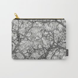 White Hunting Camo Pattern Carry-All Pouch