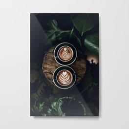 Latte Metal Print