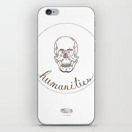 humanities skull iPhone Skin