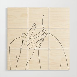 Female body line drawing - Danna Wood Wall Art