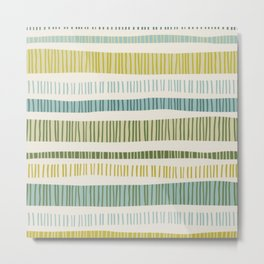 Yellow Stripes Metal Print