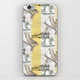 Vintage Tropical Cockatoo Pattern iPhone Skin