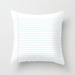 Notebook Paper Digital Watercolor School Chalk Throw Pillow