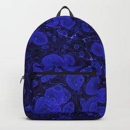 Tova - abstract art for home decor dorm college office minimal navy indigo blue Backpack