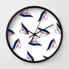 Salmon Fishing Fly  Wall Clock