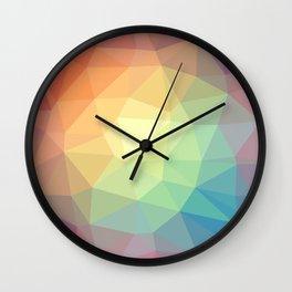 LOWPOLY RAINBOW Wall Clock
