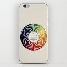 Chevreul Cercle Chromatique, 1861 Remake, vintage wash iPhone Skin
