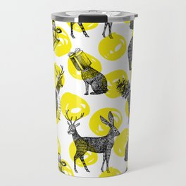 half animals pattern Travel Mug
