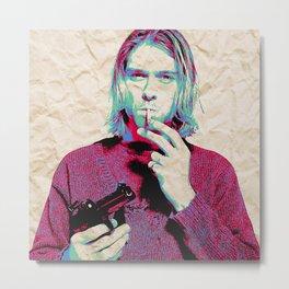 Kurt i Metal Print