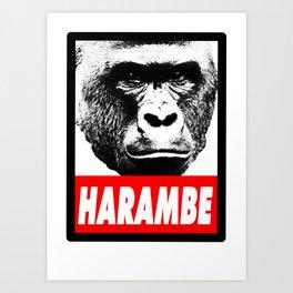 Harambe The Gorilla Art Print