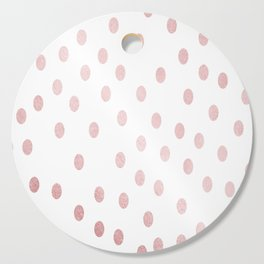 Simply Dots in Rose Gold Sunset Cutting Board
