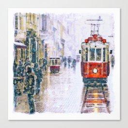 Istanbul Nostalgic Tramway Canvas Print
