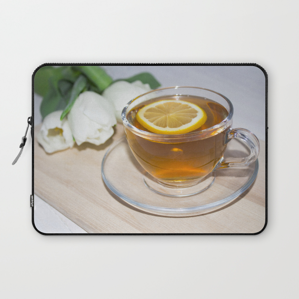 A Cup Of Tea In A Circle Of Friends, A Warm Atmosp… Laptop Sleeve LSV8803586