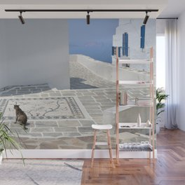 The Cat by The Aegean Sea, Milos Wall Mural