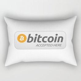 Accepted here: Bitcoin Rectangular Pillow