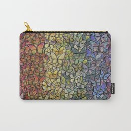 rainbow of butterflies aflutter Carry-All Pouch