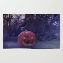 The pumpkin and the crow Rug
