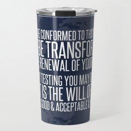 Romans 12:2 Travel Mug