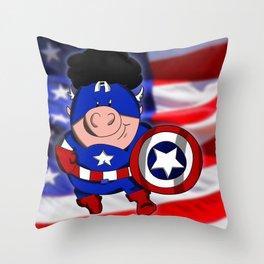 Cap'n 'Murica Throw Pillow