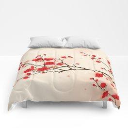 Oriental plum blossom in spring 009 Comforters