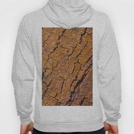 Orange tree bark with rustic wrinkles Hoody