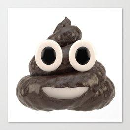 Pile of Poo Emoji Canvas Print