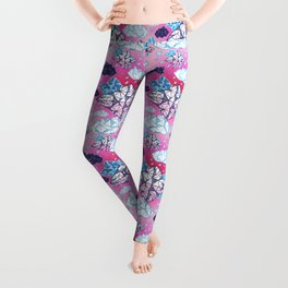 Beautiful geometric clouds with the rain coming Leggings