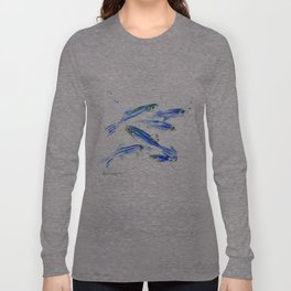 Zebra Fish, Danio Long Sleeve T-shirt