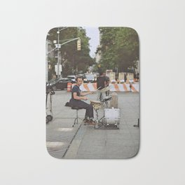 Drummer in the Park Bath Mat
