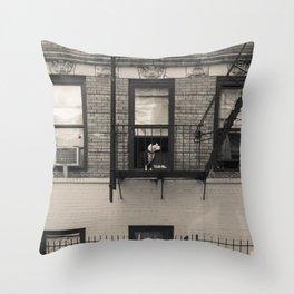 Portrait of a Dog - Urban City Landscape Photography Throw Pillow