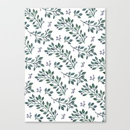 leaves pattern Canvas Print