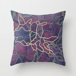 Purple Veins (1) Throw Pillow