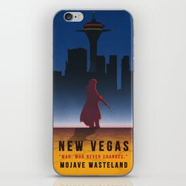 Fallout New Vegas - Vintage Style Vacation Poster iPhone Skin