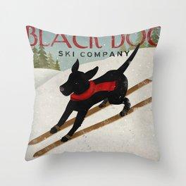 Black Dog Ski Co. Throw Pillow