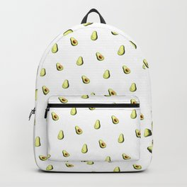 Avocado Print | White Backpack