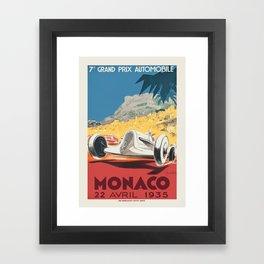 Formula 1 - 1935 Monaco Grand Prix Framed Art Print