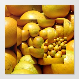 Photocollage - oranges 1 Canvas Print
