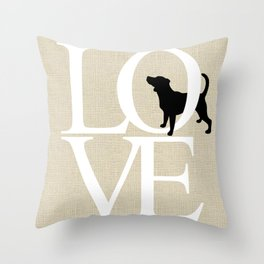 Love - beagle Throw Pillow