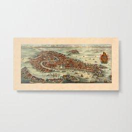 Map Of Venice 1636 Metal Print