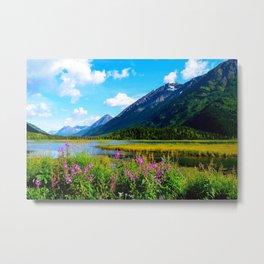 God's Country - Summer in Alaska Metal Print
